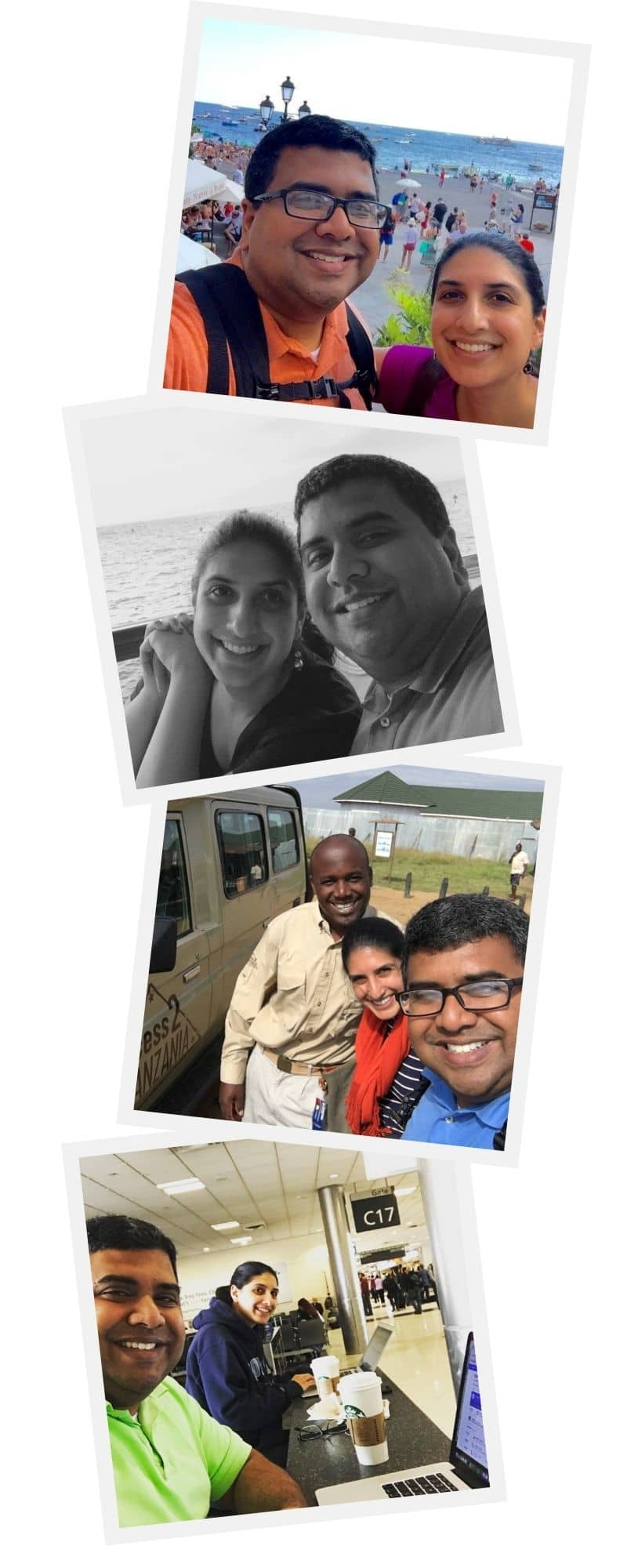 Naveen and Shaylee photo collage